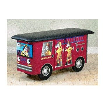 Engine K-9 with Dalmatian Firefighters Mat Table