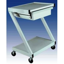 Ideal 2 Shelf Equipment Cart w/Drawer