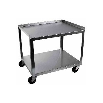 Ideal 2 Shelf Stainless Steel Utility Cart