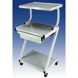 Ideal 3 Shelf Equipment Cart with Drawer