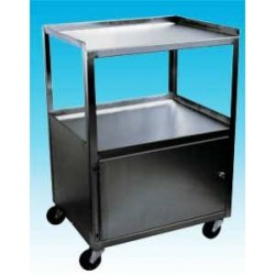 Ideal 3 Shelf Stainless Steel Cabinet Cart