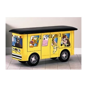 Zoo Bus with Jungle Friends Mat Table